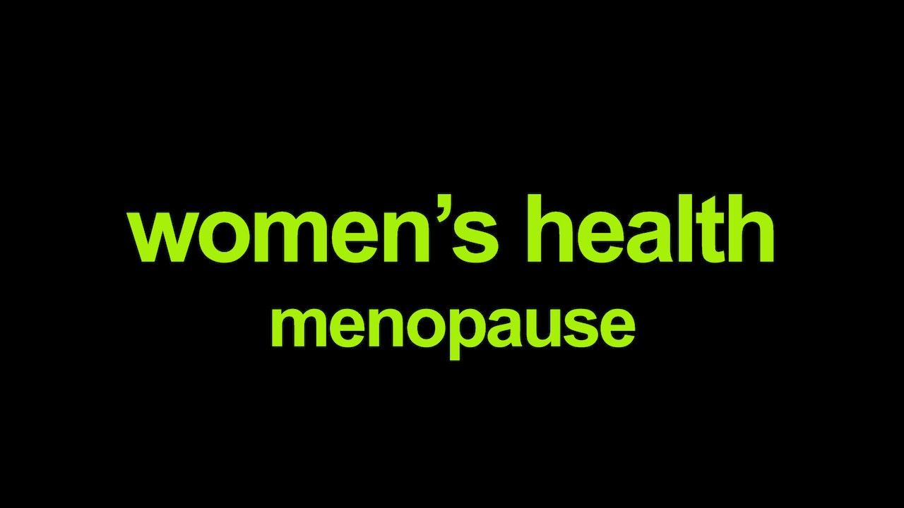 Women's health - menopause Blurred