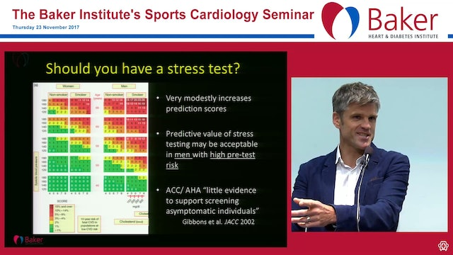 What should a middle-aged person do to minimise the risk of heart attack Assoc Prof André La Gerche