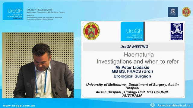 Haematuria Investigations and when to refer, Mr Peter Liodakis