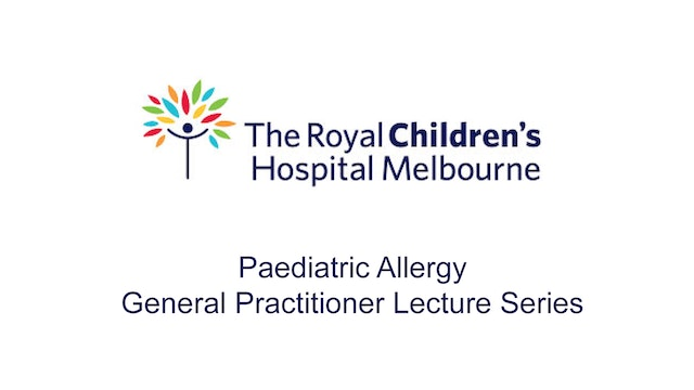 Royal Children's Hospital GP Lectures
