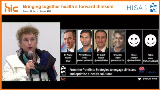 From the frontline Strategies to engage clinicians and optimise eHealth solutions presented by eHealth NSW
