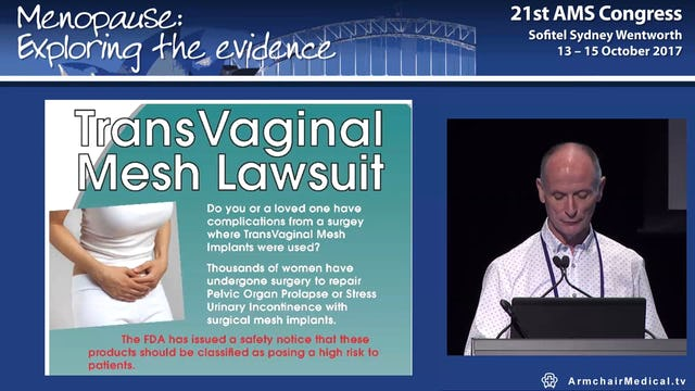 Surgical management of pelvic organ prolapse Assoc Prof Chris Maher
