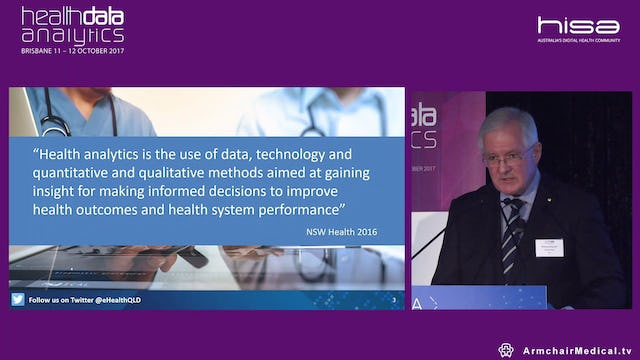 Data and analytics use in health Dr Richard Ashby AM @eHealthQLD CEO and CIO, eHealth Queensland