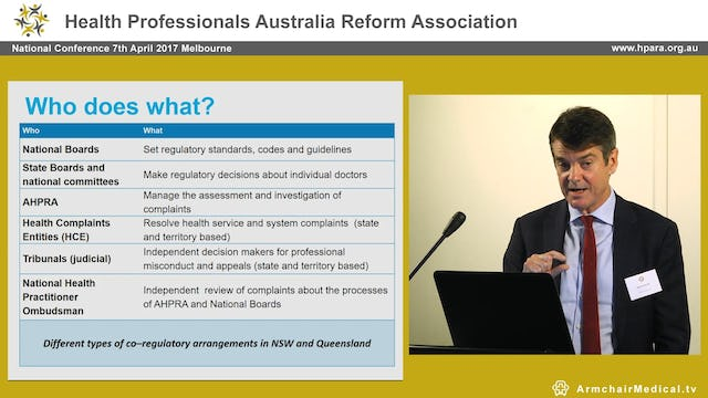 The notifications process Martin Fletcher CEO AHPRA