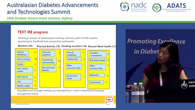 Text messaging and diabetes Clara Chow