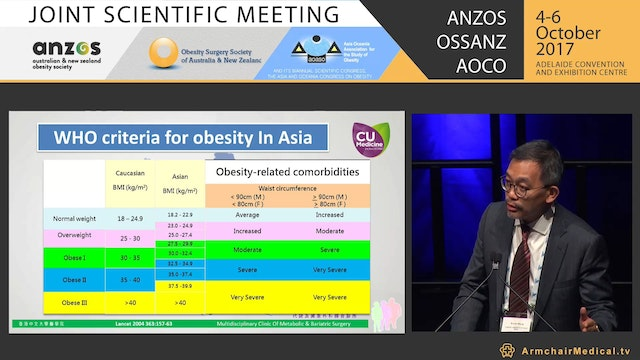 Bariatric Surgery in Asia Pacific - Shock & awe - Clin Assoc Prof Simon Wong