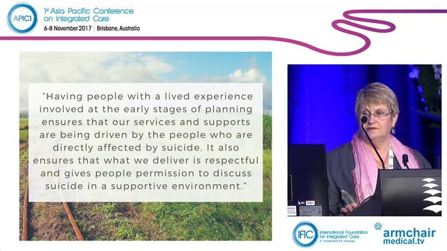 Why lived experience participation improves mental health and suicide prevention service design Pattie Hudson