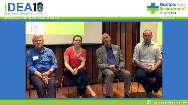 Agriculture and food security Panel Discussion Gerard Wedderburn-Bisshop, Dennis Ward, Prof Garry Egger