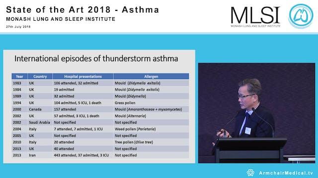 Thunderstorm Asthma Professor Frank Thien