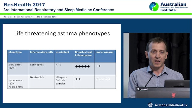 What Does the ICU Physician Have to Offer When Everything Fails in Asthma Dr Brett Sampson