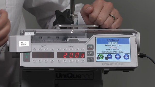 Syramed µSP6000 Chroma PCA EPCA (Patient Controlled Analgesia)