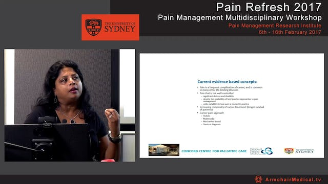 Opioid pharmacology and cancer pain Associate Professor Ghauri Aggarwal