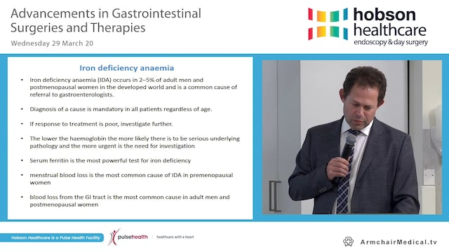 An update on the diagnosis and management of iron deficiency anaemia Dr Ashley Miller
