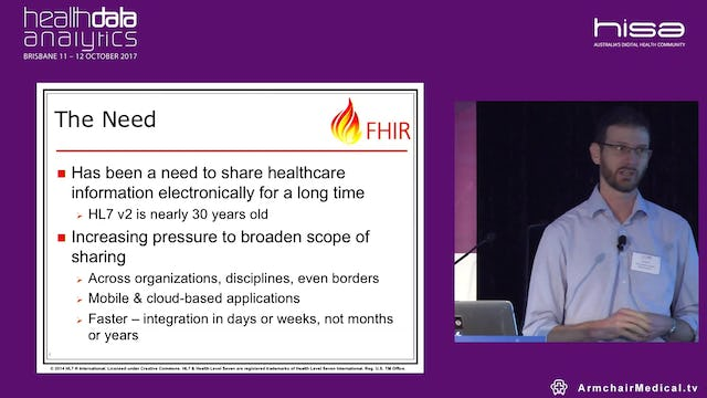 FHIR Fast Healthcare Interoperability Resources Dr Michael Lawley and Dr Jim Steel The Australian E-Health Research Centre, CSIRO