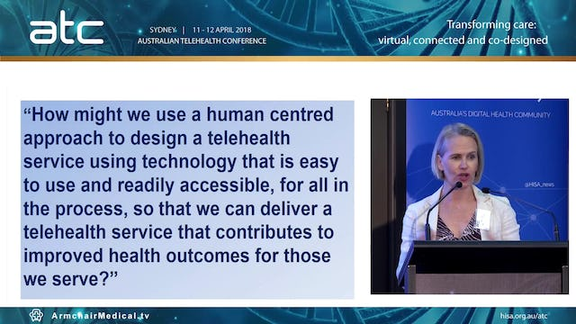 Using a human centred approach to design telehealth in a tertiary hospital Karrie Long Telehealth Coordinator, Melbourne Health