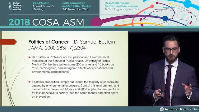 COSA Presidential Lecture - The politics of cancer Tim Hammond