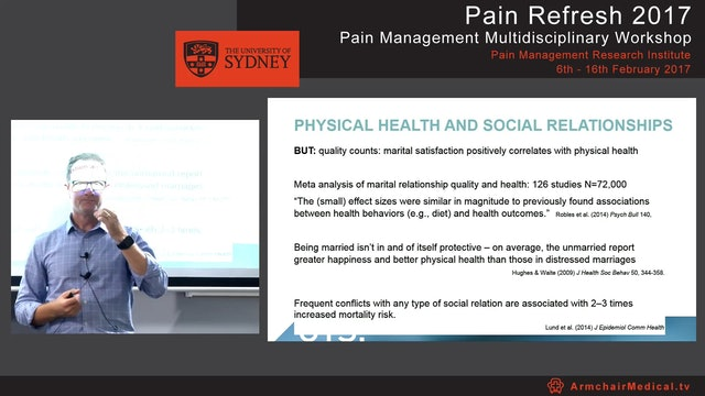 Chronic pain and the partner Dr Toby Newton-John