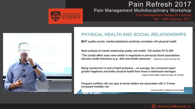 Chronic pain and the partner Dr Toby ...