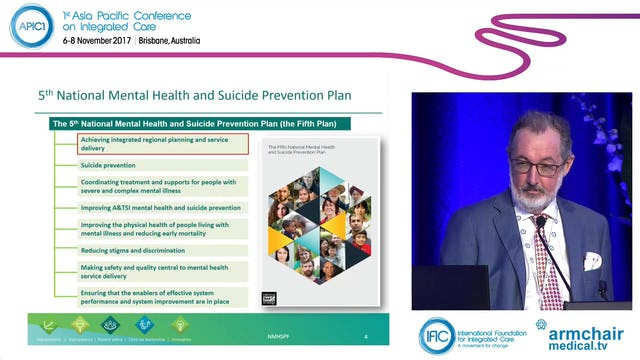The 5th National Mental Health and Suicide Prevention Plan The time is right for integrated care John Allan