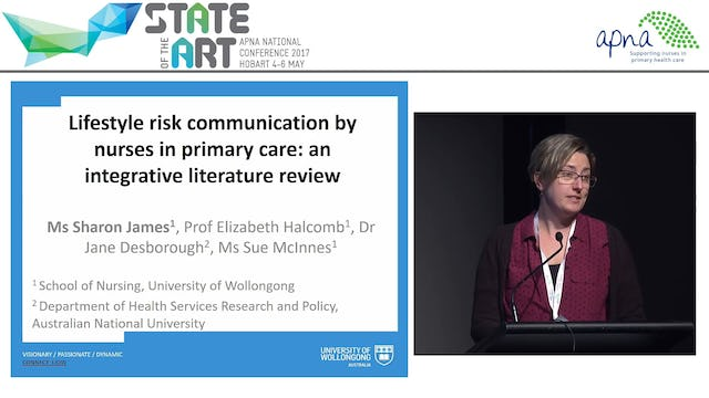 Lifestyle Risk Communication by Nurses in Primary Care an Integrative Review, Sharon James