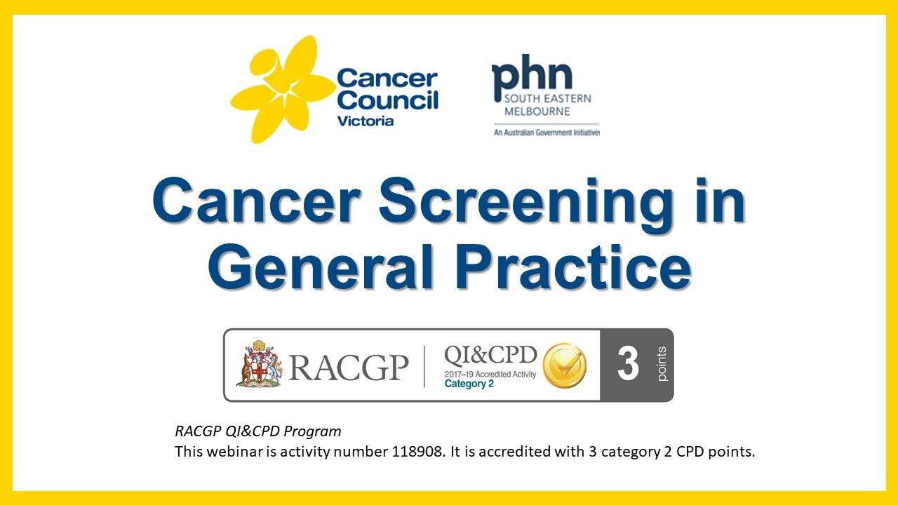 Cancer Screening In General Practice
