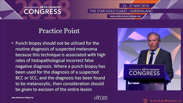 Biopsy of pigmented lesions Dr Keith Monnington