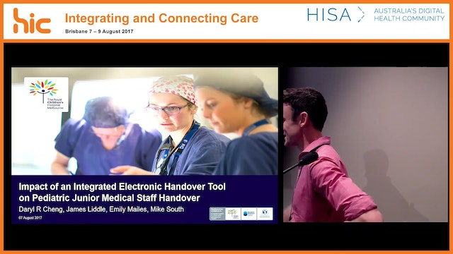 Impact of an integrated electronic handover tool on Paediatric Junior Medical Staff (JMS) handover Dr James Liddle
