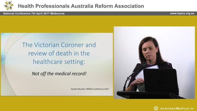 Coroner and review off the medical record! Sandra Bourke