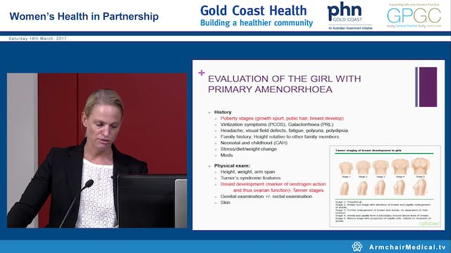 Primary and secondary amenorrhea Dr Bridget Gilsenan