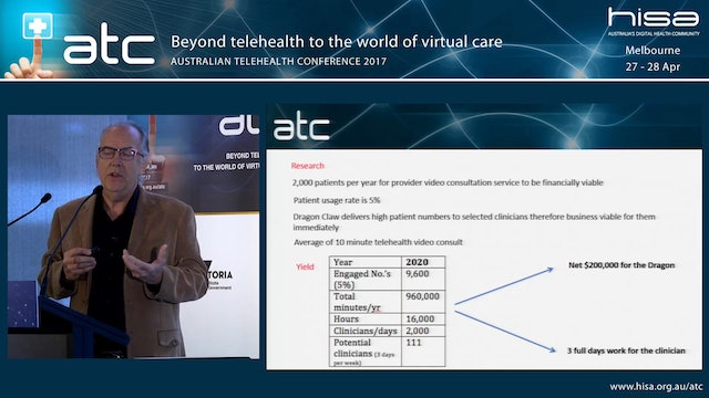 Reflecting on the business case for telehealth - how do we express value Michael Gill