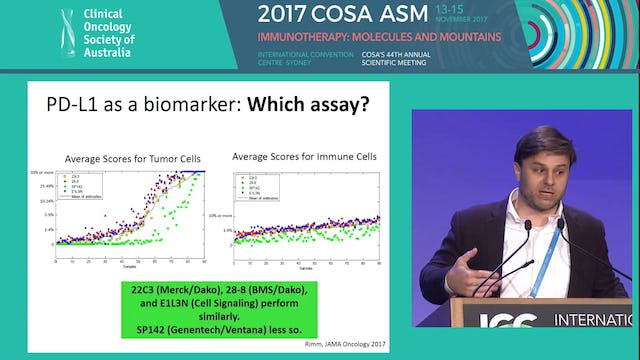 Patient selection and biomarkers for immunotherapy in lung cancer Matthew D. Hellmann
