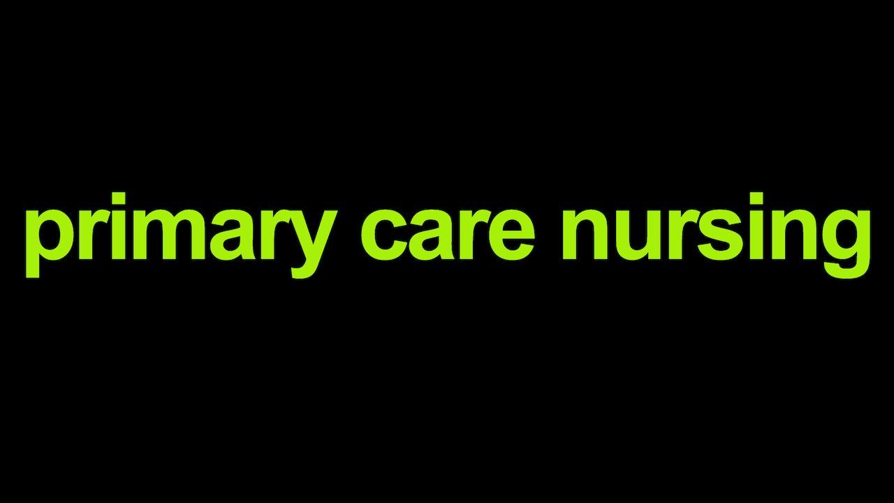 Primary Care Nursing Blurred