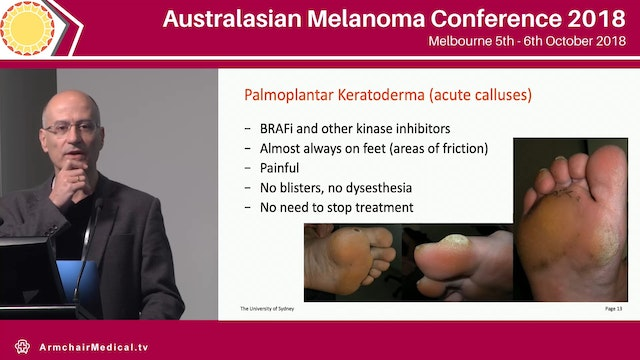 Dermatological Issues with systemic therapy Pablo Fernandez-Penas