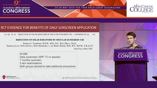 Changed sunscreen policy for Australia and New Zealand - the rationale for daily sunscreen use Assoc Prof Rachel Neale