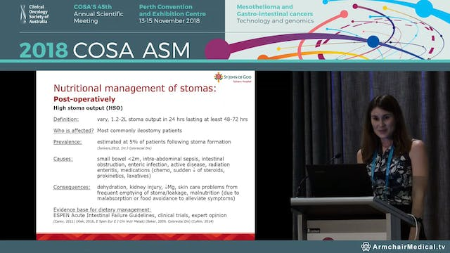 Nutritional management of stomas - Sascha E McMeekin