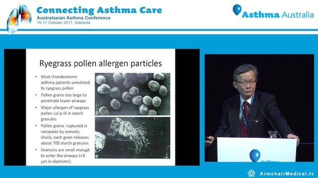 Thunderstorm asthma Background and overview Prof Frank Thien