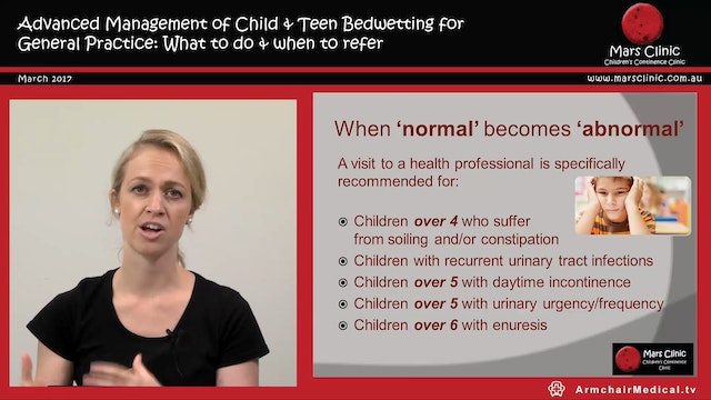 Children's Continence Bedwetting Sion...
