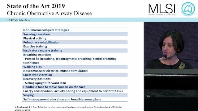 Management of severe chronic breathlessness in COPD Assoc Prof Natasha Smallwood