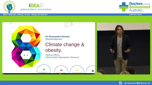 Climate change & obesity. Dr Alessandro Demaio Medical Officer World Health Organization