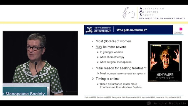 Non-hormonal therapies for menopausal symptoms What works Prof Martha Hickey