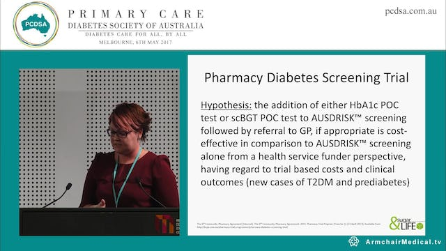 The role of pharmacists in diabetes detection and management, new Government initiatives Ms Kirstie-Jane Grenfell