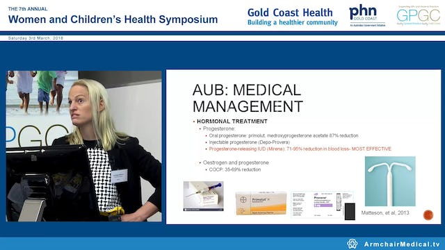 Abnormal uterine bleeding Dr Bridget Gilsenan