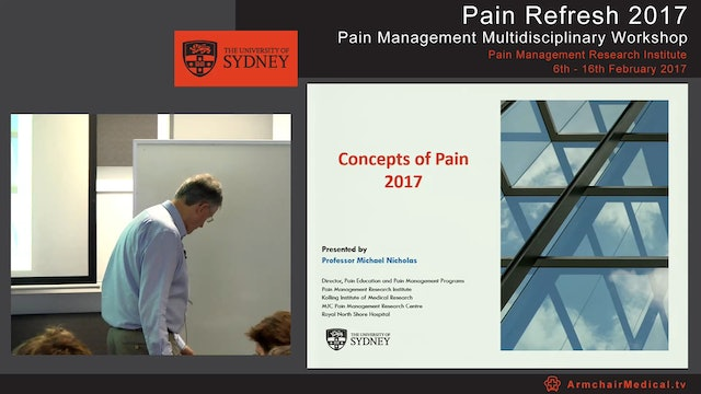 Concepts of Pain 2017 Professor Michael Nicholas