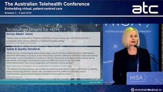 Combining telehealth capabilities to strengthen delivery of home-based acute care models Vickie De Jong Project Officer, Metro South Health and Vickie Irving Clinical Specialist, Telstra Health