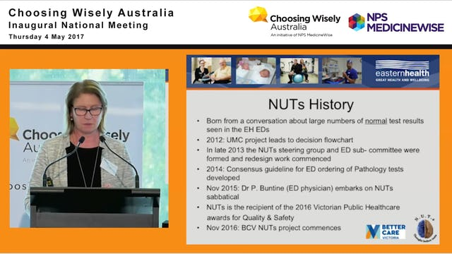 NUTS No Unnecessary Tests at Eastern Health. Janet Steele - Project Manager, Eastern Health