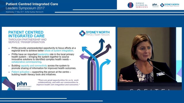 Welcome address Ms Lynelle Hales, CEO, Sydney North Primary Health Network