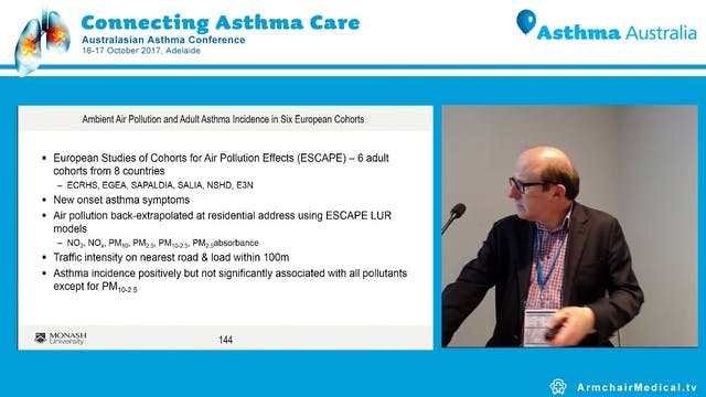 Does air pollution affect asthma Prof Michael Abramson