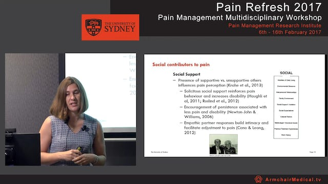 The social side of pain - Contributors and consequences Dr Claire Ashton-James