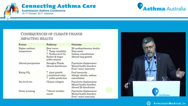 Respiratory disease in the era of climate change Prof Peter Sly