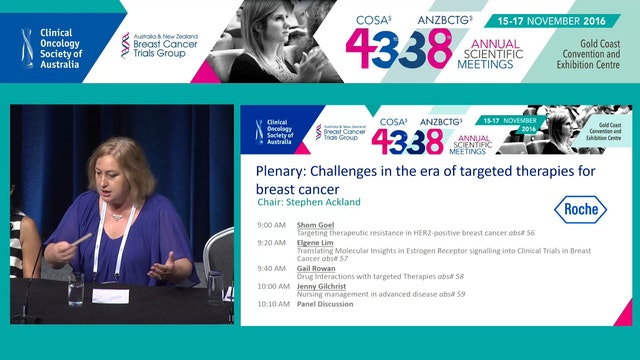 Challengesintheeraoftargetedtherapiesforbreastcancer Panel Discussion